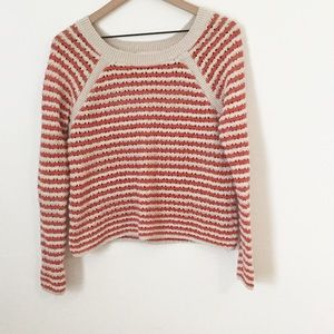 Loft Open Knit Cropped Sweater